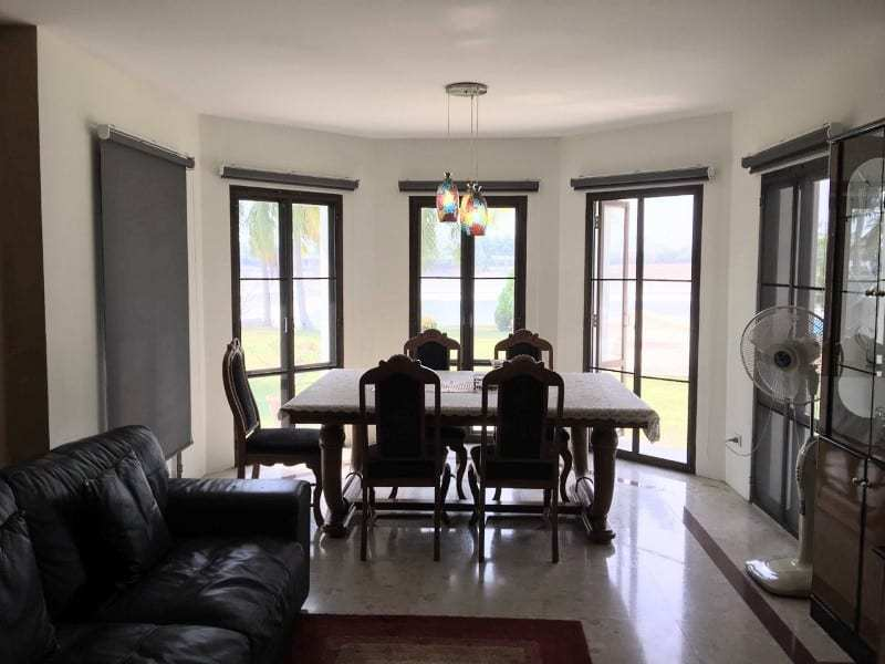 Lake view house for sale in Hua Hin dining