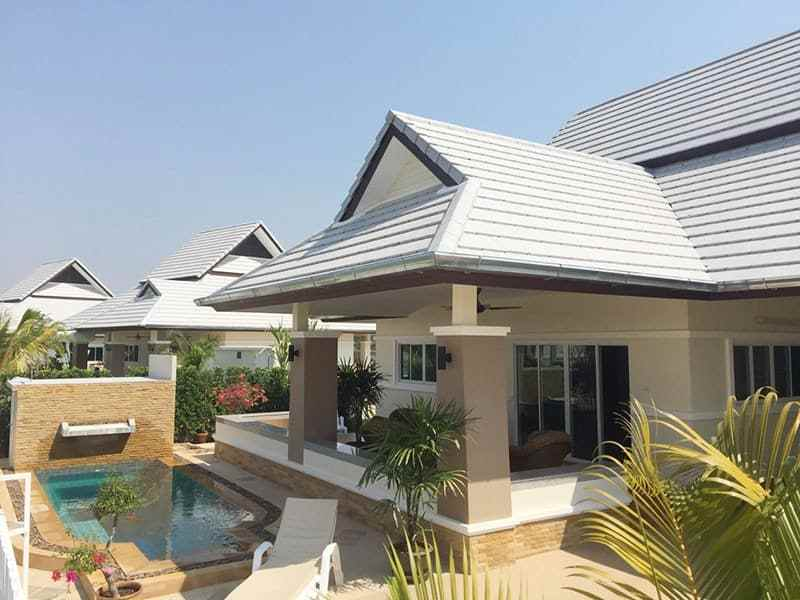 Newly built and upgraded house for sale in Hua Hin side view