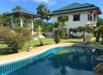 Luxury pool mansion for sale in Thailand pool view
