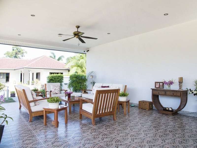 Sunset Village Hua Hin stunning house for sale outdoor living