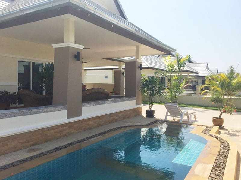 Newly built and upgraded house for sale in Hua Hin pool view