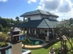 Luxury pool mansion for sale in Thailand House view