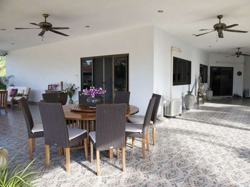 Sunset Village Hua Hin stunning house for sale shaded area