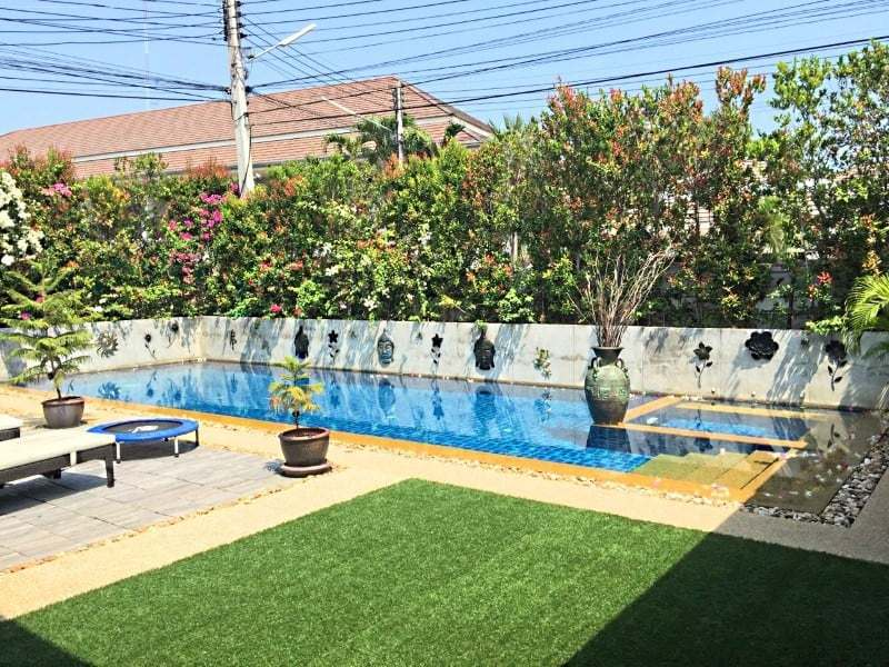 Upgraded swimming pool home in Hua Hin for sale Pool view