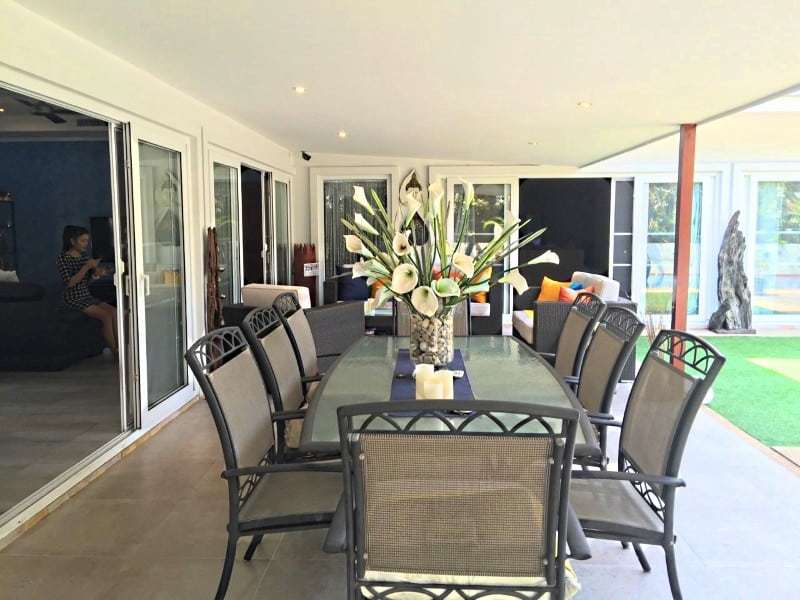 Upgraded swimming pool home in Hua Hin for sale external dining