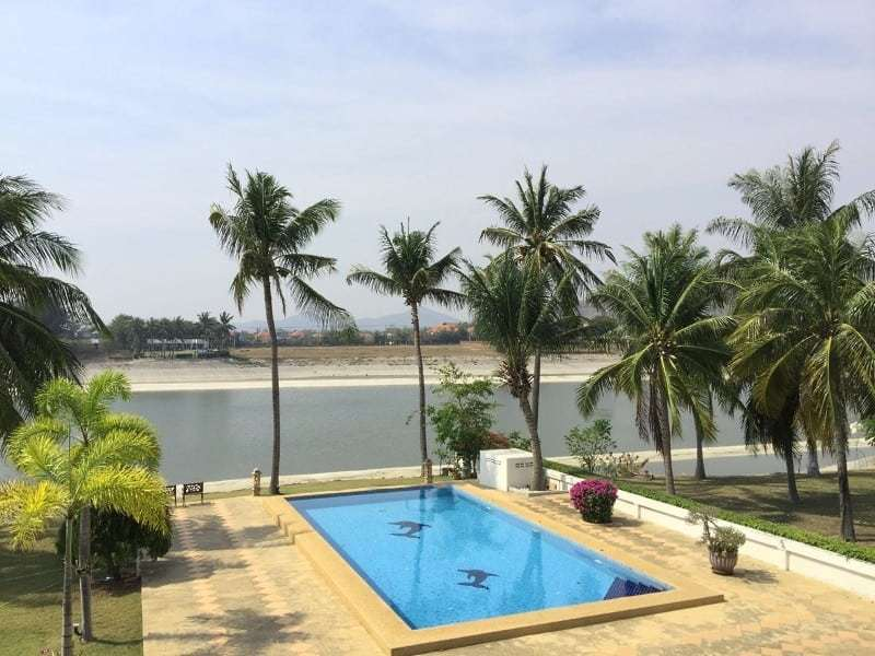 Lake view house for sale in Hua Hin rear pool