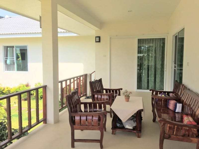 Villa with pool for sale in Thailand covered veranda