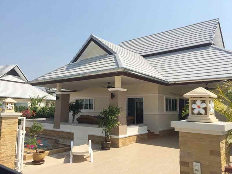 Newly built and upgraded house for sale in Hua Hin front view