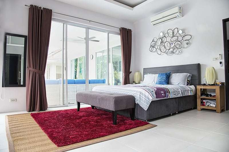 Modern pool villa for sale in Hua Hin master bedroom