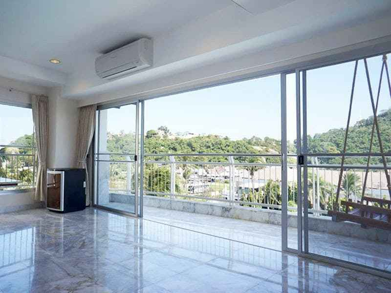 Condo for sale in Hua Hin with panoramic sea view lounge view
