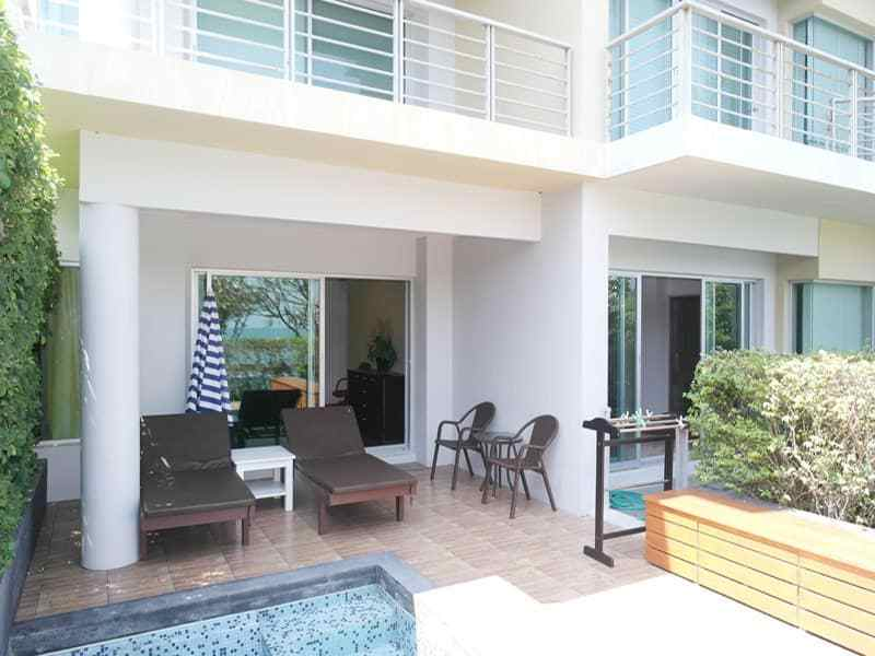 Seaview condo in Hua Hin for sale ground floor