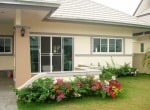 Nice basic home for sale in Hua Hin Thailand front garden