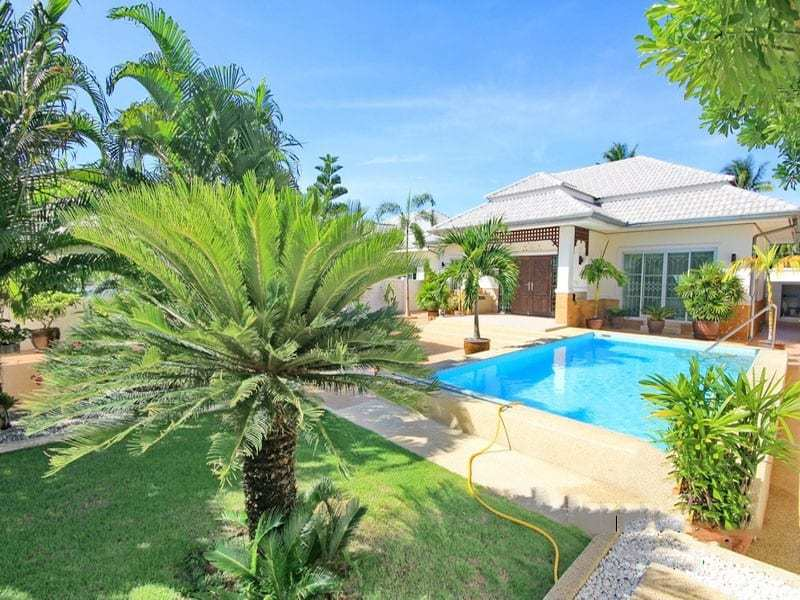 Small pool vila for sale in Hua Hin rear view
