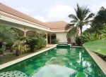 Tropical pool villa for sale in Hua Hin pool view