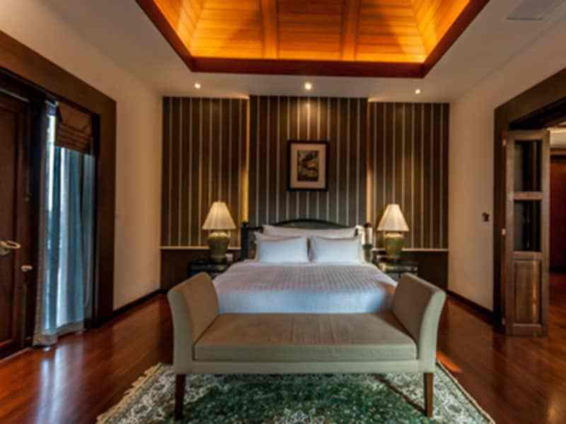 Luxury golf course villa for sale in Hua Hin stylish bedroom
