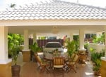 Small pool vila for sale in Hua Hin car port