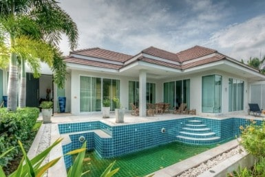 Hua Hin Red Mountain luxury villa for sale full view