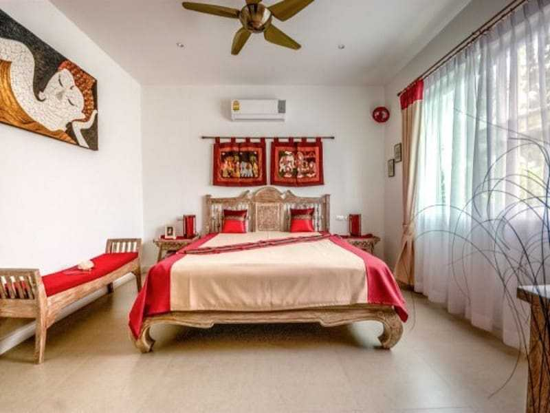 Modern villa with pool for sale master bedroom