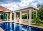 Modern home with pool for sale Hua hin covered terrace