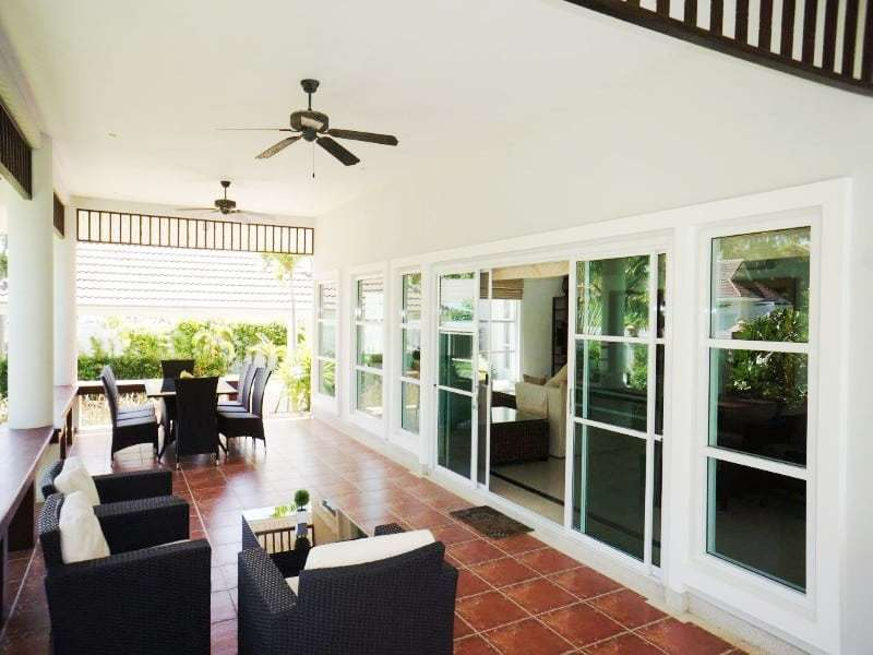 Private pool property for sale Hua Hin covered terrace
