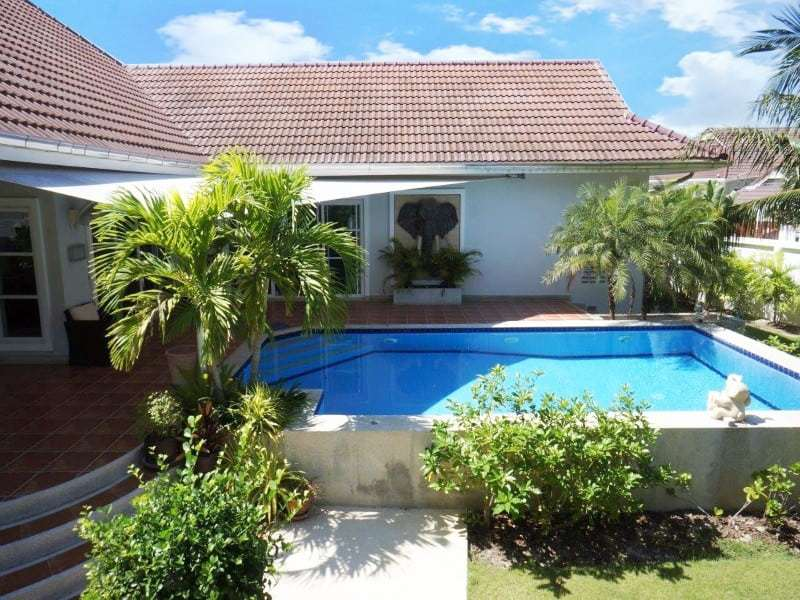 Private pool property for sale Hua Hin rear house