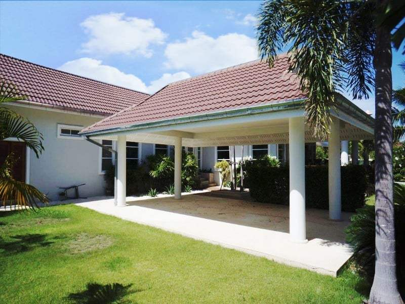 Private pool property for sale Hua Hin car port