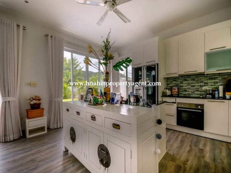 Modern home with pool for sale Hua hin breakfast bar