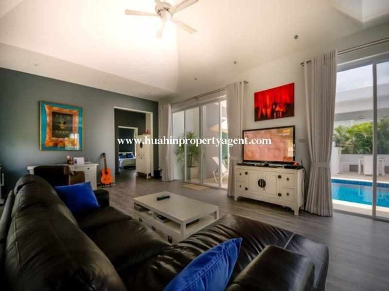 Modern home with pool for sale Hua hin tv room