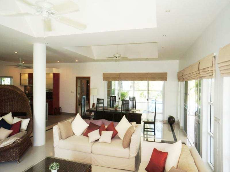 Private pool property for sale Hua Hin lounge