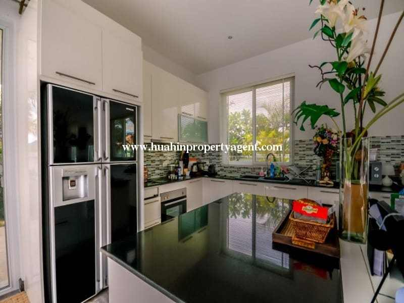 Modern home with pool for sale Hua hin euro kitchen