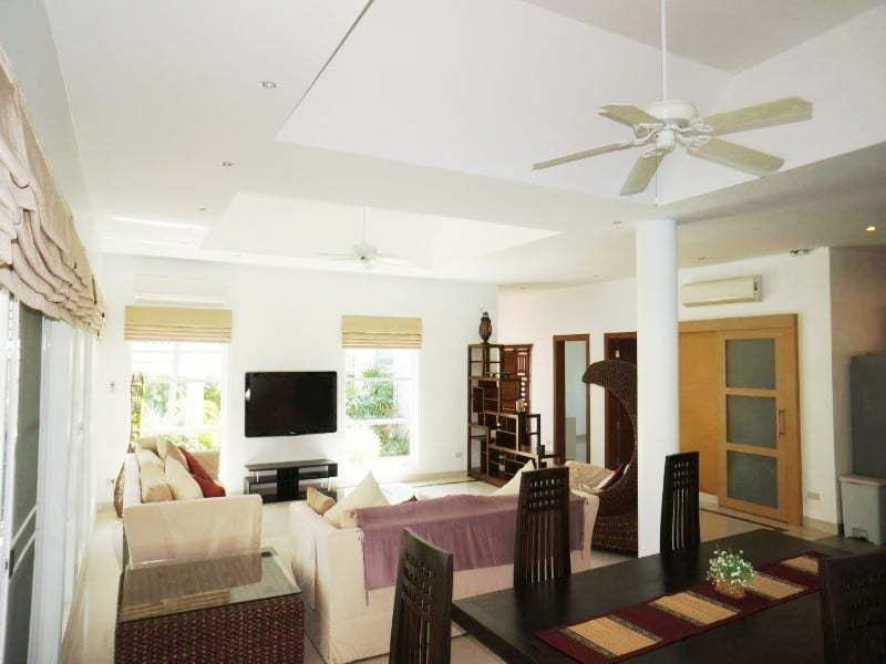 Private pool property for sale Hua Hin living area
