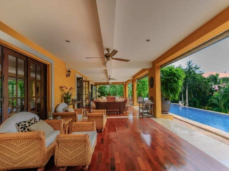Luxury Hua Hin residential home for sale shaded terrace