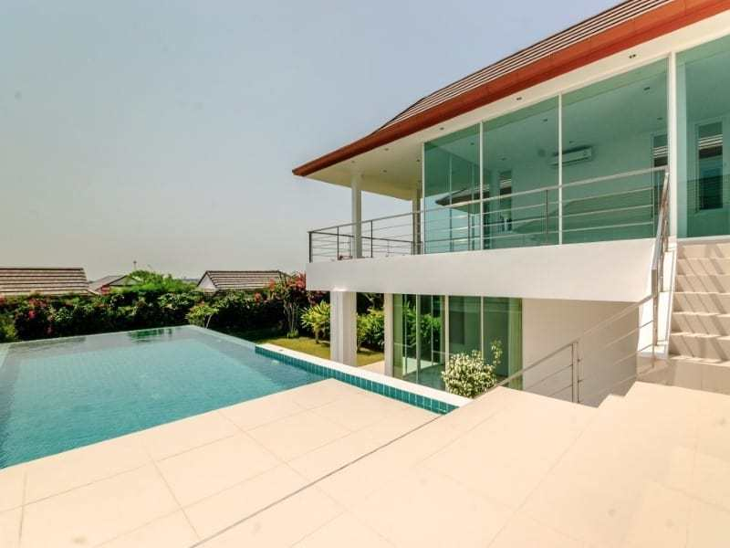 Sea view villa for sale Phu Montra Hua Hin pool view