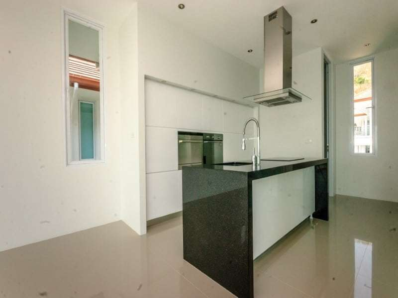 Sea view villa for sale Phu Montra Hua Hin kitchen island