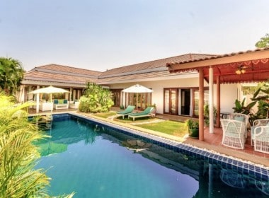 Three bed property for sale Hua Hin city pool view