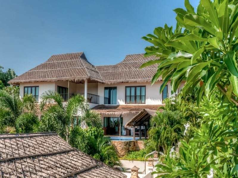 Double level villa near Pranburi for sale rear view