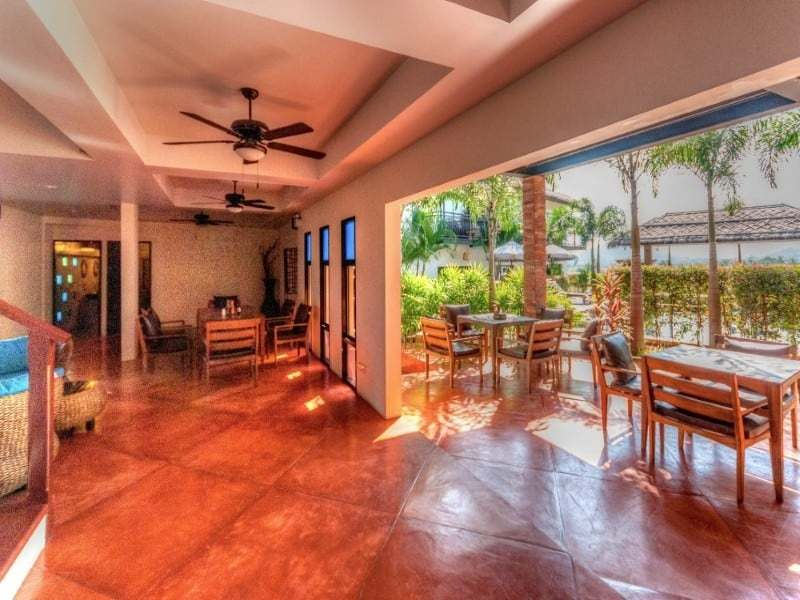 Double level villa near Pranburi for sale covered terrace