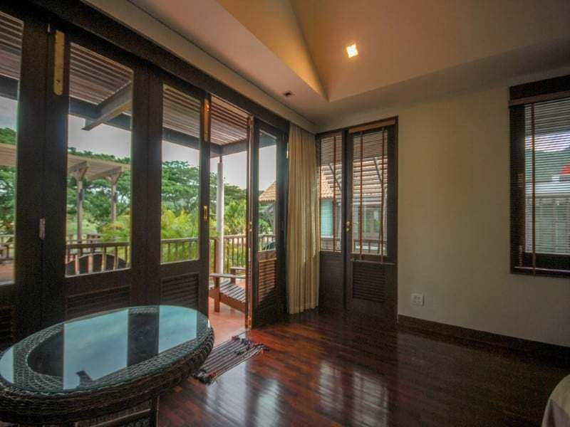Stunning golf course villa Hua Hin for sale teak floors