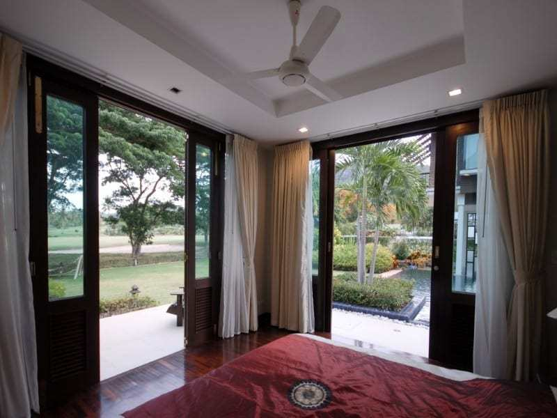 Stunning golf course villa Hua Hin for sale bedtroom view