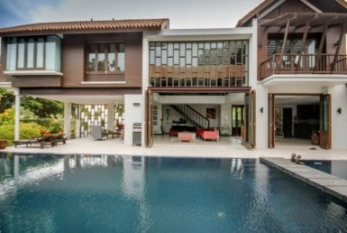 Stunning golf course villa Hua Hin for sale pool view