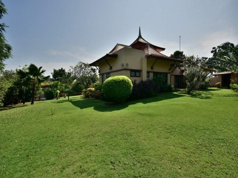 Balinese style villa for sale Dolphin Bay garden view
