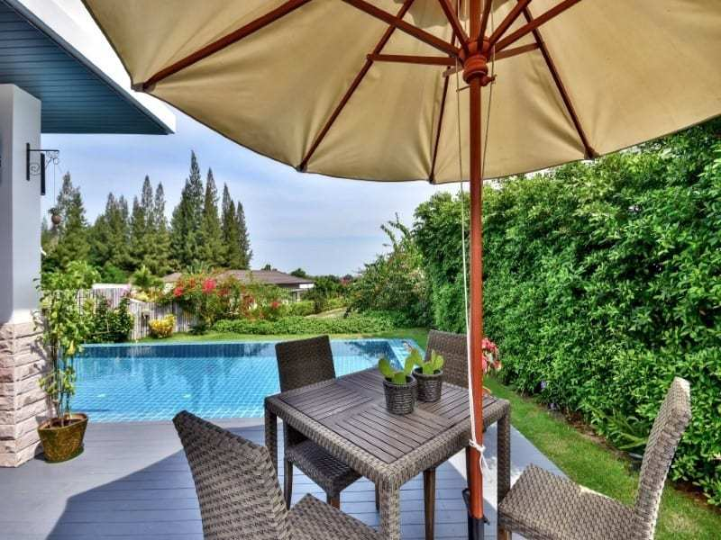 The Spirit Hua Hin villa for sale outdoor dining