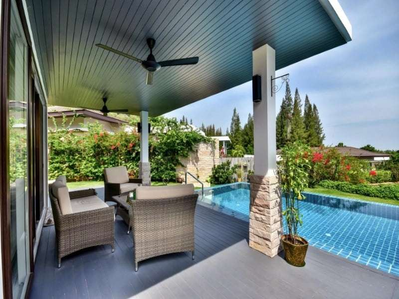The Spirit Hua Hin villa for sale outdoor decking
