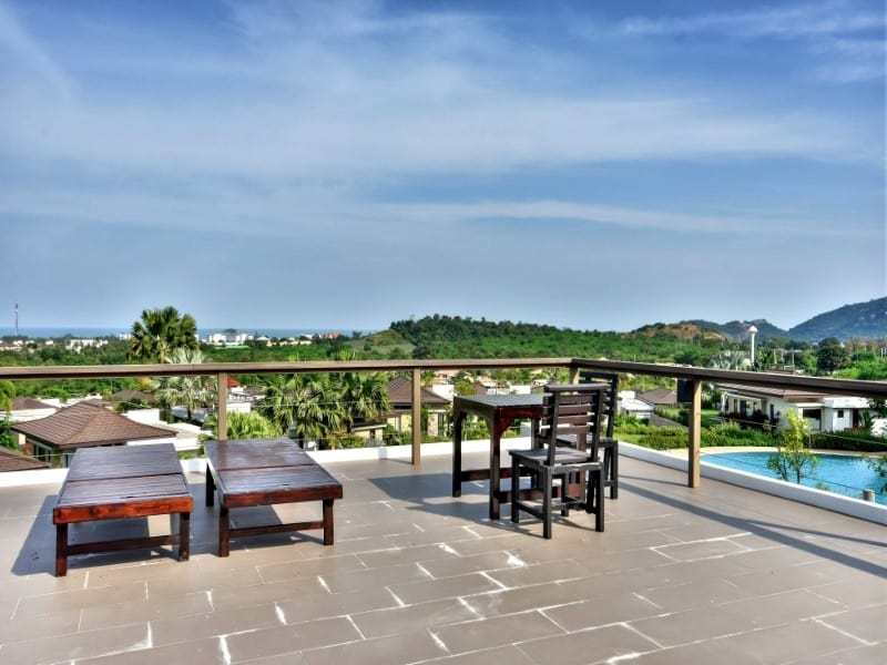Sea view bungalow for sale Hua Hin roof terrace