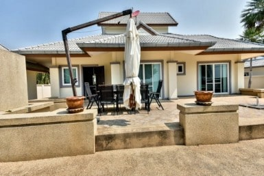 Big residential Hua Hin house for sale rear view
