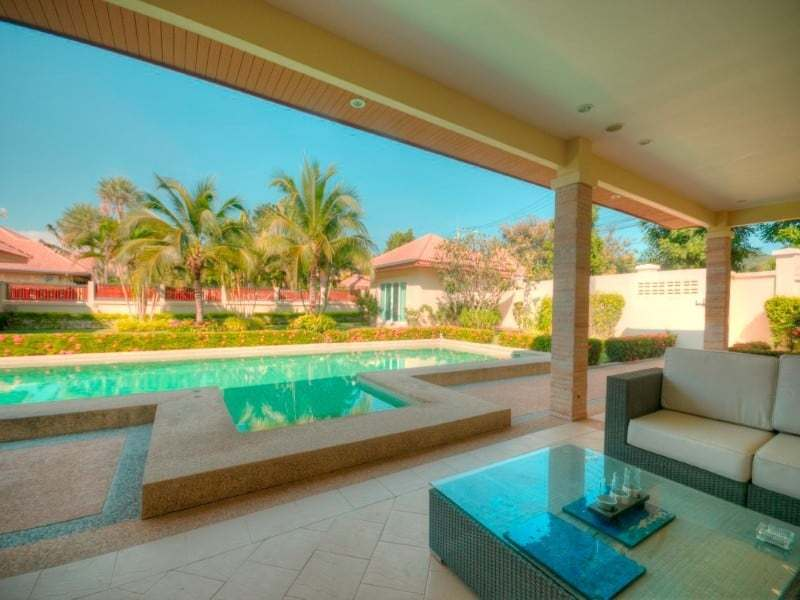 Hua Hin Orchid Palm Homes 3 resale villa terace view