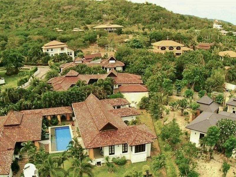 Villa for sale balinese style Hunsa Hua Hin arial view