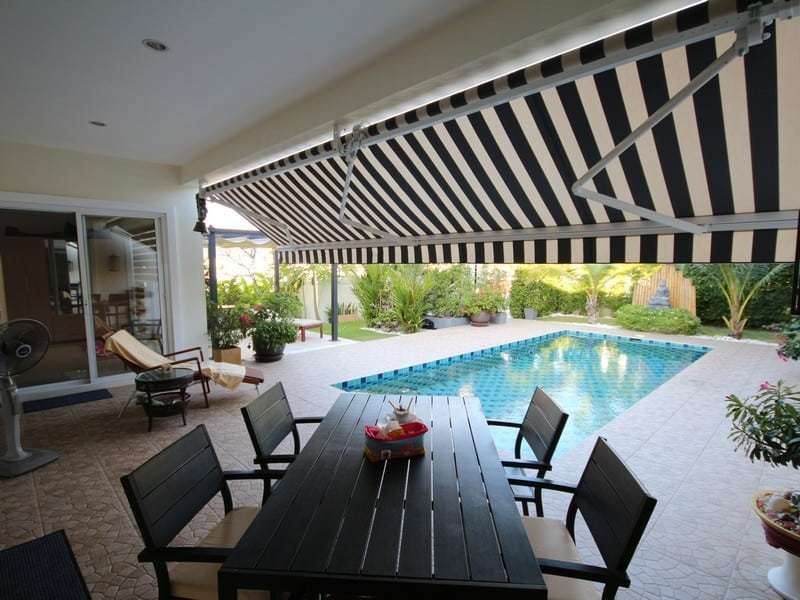 Pool villa for sale Hua Hin south covered terrace