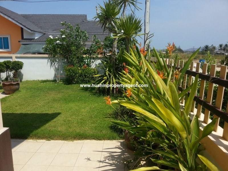 Small house for sale Hua Hin West back garden