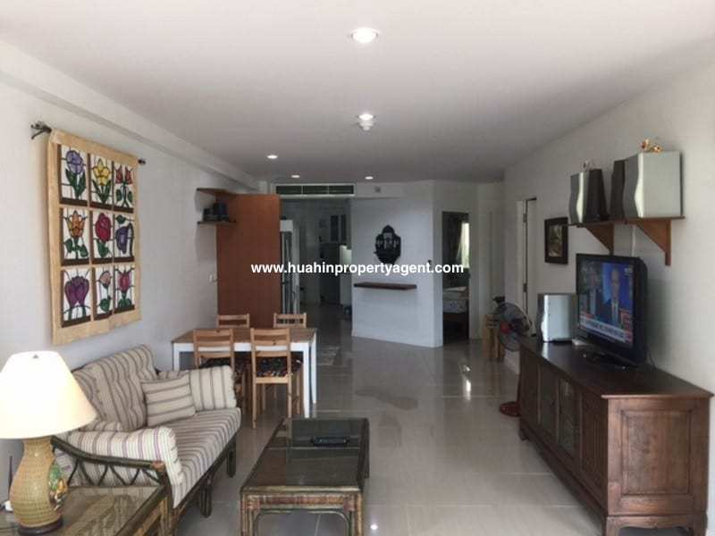 3 bedroom condo south of Hua Hin for sale living area
